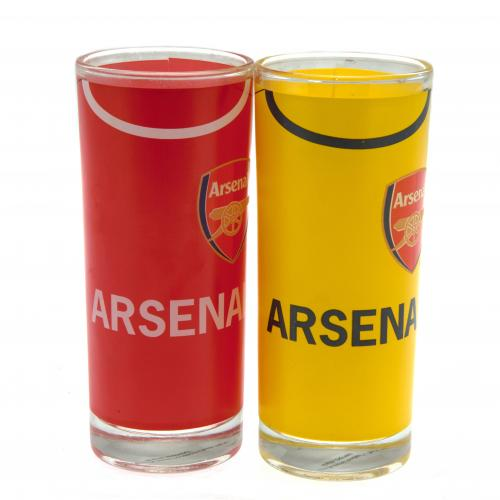 Arsenal F.C. 2pk High Ball Glass