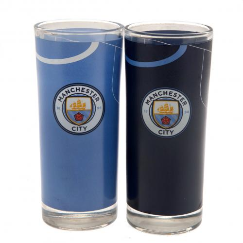 Manchester City F.C. 2pk High Ball Glass