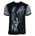 Broken Wings - T-Shirt Contrast Black
