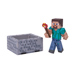 Minecraft Action Figure Steve with Minecart 8 cm