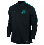 2016-2017 Barcelona Nike Drill Training Top (Black-Energy)
