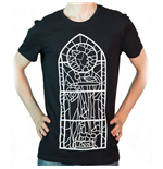 THE ELDER SCROLLS V Skyrim Talos Chapel Stained Glass Window T-Shirt, Extra Large, Black