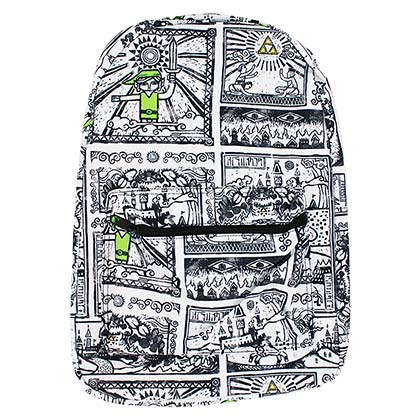 The LEGEND OF ZELDA Drawings Sublimated Backpack