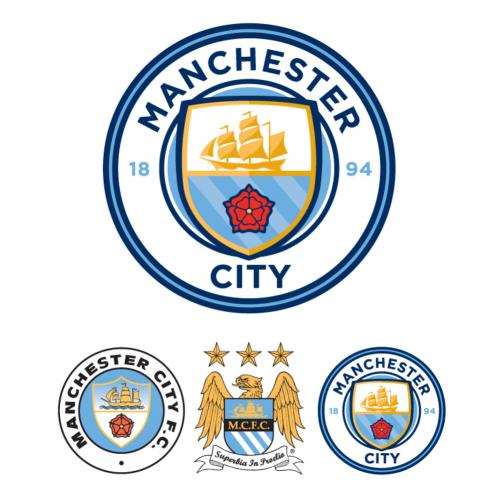 Manchester City F.C. Wall Sticker Set CR