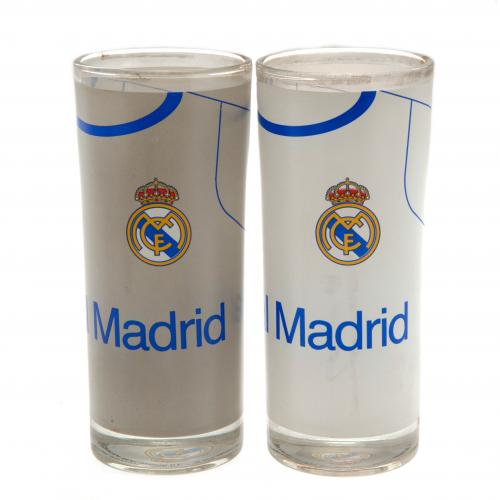 Real Madrid F.C. 2pk High Ball Glass