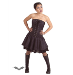 Black corset dress with lacing in front