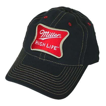 0f04f5d9e MILLER High Life Adjustable Velcro Black Hat