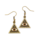 Fantastic Beasts Triangle Eye Earrings (antique brass plated)