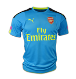 2016-2017 Arsenal Puma Away SS Goalkeeper Shirt (Blue) - Kids