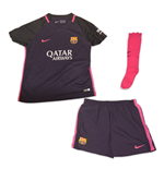 2016-2017 Barcelona Away Nike Little Boys Mini Kit (with sponsor)