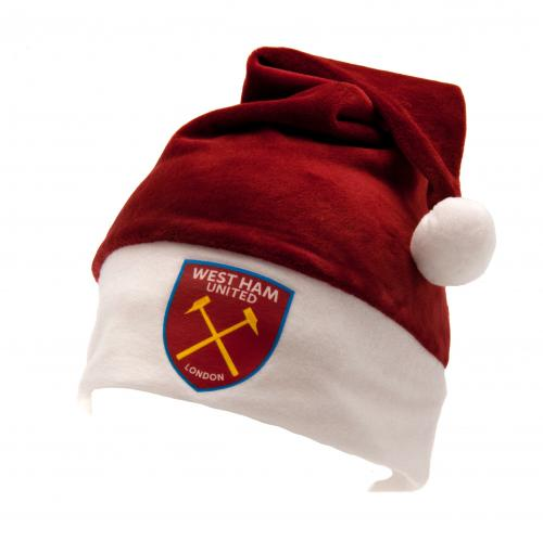 West ham United F.C.Supersoft Santa Hat