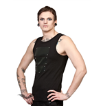 Black Tank Top with Screws