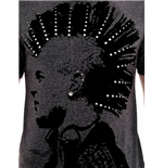Grey T-shirt with Mohawk print