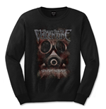Bullet For My Valentine Men's Long Sleeved Tee: Temper Temper Gas Mask