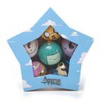 ADVENTURE TIME Xmas Decorative Set of 6 Christmas Baubles with Multi-Character Designs