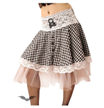 White/black skirt with white lace