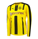 2016-2017 Borussia Dortmund Home Long Sleeve Puma Shirt