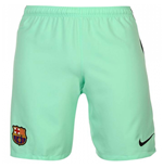 2016-2017 Barcelona Third Nike Football Shorts Green Glow (Kids)