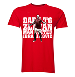 Zlatan Ibrahimovic Dare to Zlatan Man Utd T-Shirt (Red)