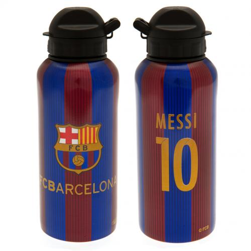 F.C. Barcelona Aluminium Drinks Bottle Messi