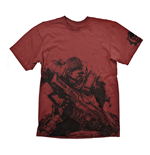 GEARS OF WAR 4 Men's Fenix T-Shirt, Extra Extra Large, Dark Red