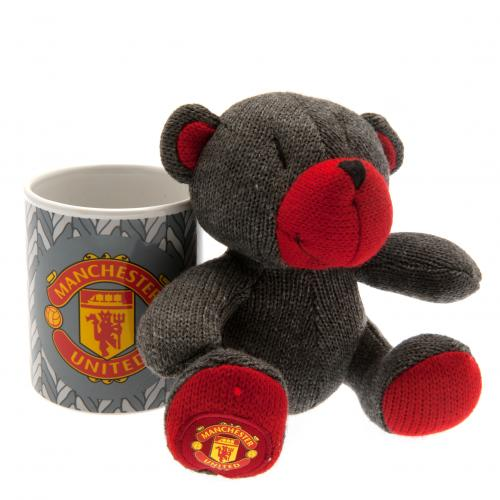 Manchester United F.C. Mug & Bear Set