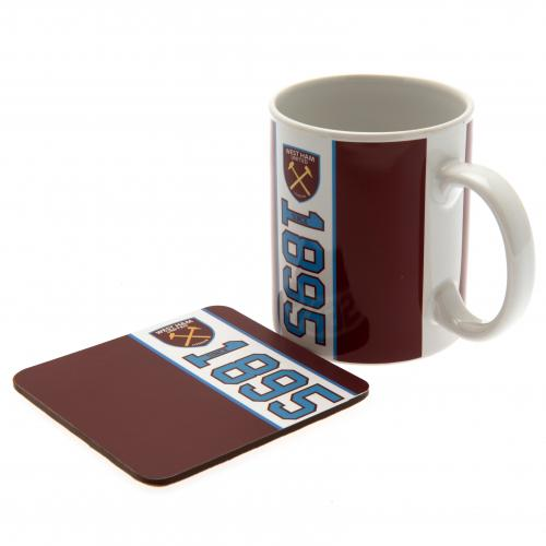 West Ham United F.C. Mug & Coaster Set