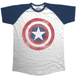 Marvel Comics Men's Raglan Tee: Avengers Assemble Distressed Shield