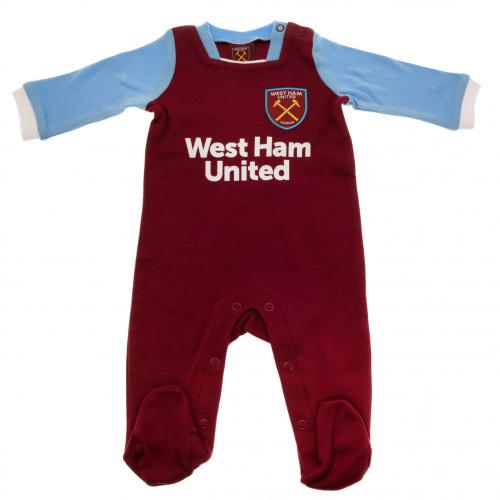 West Ham United F.C. Sleepsuit 6/9 mths