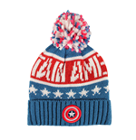 Captain America Beanie Knitted Logo