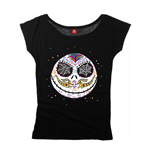 Nightmare Before Christmas Ladies T-Shirt Sugarskull Dots