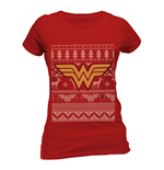 Wonder Woman - Fair Isle - Women Fitted T-shirt Red