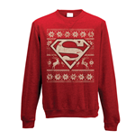 Superman - Fair Isle - Unisex Crewneck Sweatshirt Red