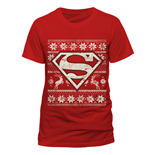 Superman - Fair Isle Logo - Unisex T-shirt Red