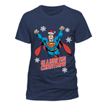 Superman - Christmas Hero - Unisex T-shirt Blue