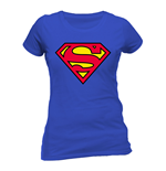 Superman - Logo - Women Fitted T-shirt Blue