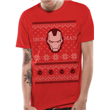 Iron Man - Im Fair Isle - Unisex T-shirt Red