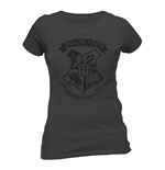 Harry Potter - Distressed Hogwarts - Women Fitted T-shirt Grey