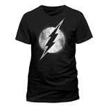 The Flash - Logo Mono Distressed - Unisex T-shirt Black
