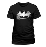 Batman - Logo Mono Distressed - Unisex T-shirt Black