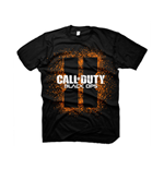 CALL OF DUTY Black Ops II Men's Splash Logo T-Shirt, Small, Black