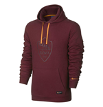 2016-2017 AS Roma Nike Core Hooded Top (Team Red)