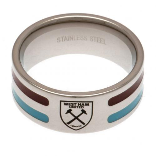 West Ham United F.C. Colour Stripe Ring Small