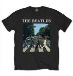 The Beatles T-shirt - Abbey Road With Logo Black