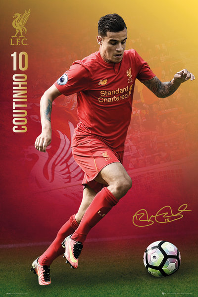 LIVERPOOL Coutinho 16/17 Maxi Poster