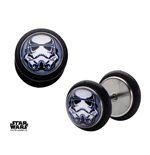 Star Wars Screw Back Earrings Stormtrooper Helmet Graphic Front