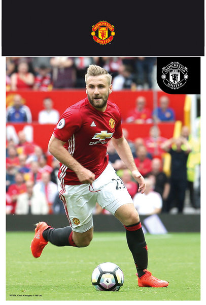 "MANCHESTER UNITED Shaw 16/17 10"" x 8"" Bagged Photographic"