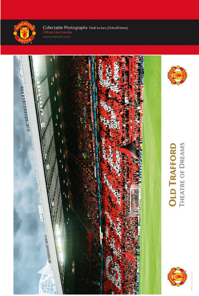 "Manchester United Old Trafford Interior 10"" x 8"" Bagged Photographic"