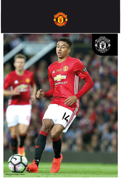 "MANCHESTER UNITED Lingard 16/17 10"" x 8"" Bagged Photographic"