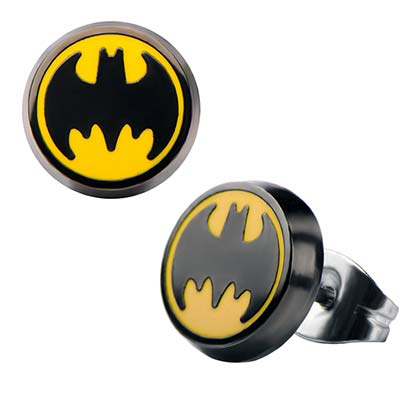 BATMAN Stud Enamel Earrings